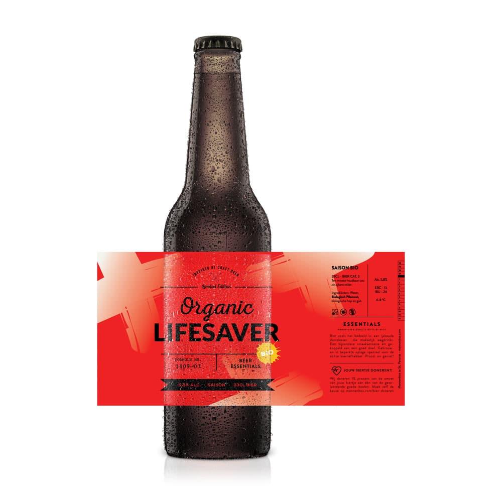 Lifesaver bier biologisch goed doel