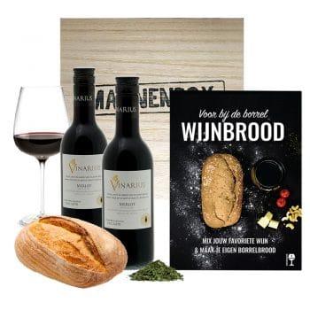 Wijnbrood cadeaupakket