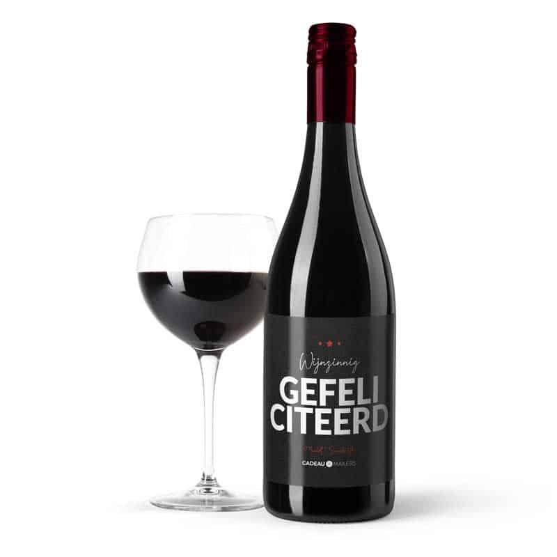 Gefeliciteerd wijn